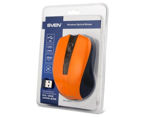 Мышь SVEN RX-345 Wireless Orange